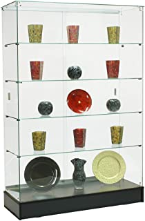 lockable glass cabinet