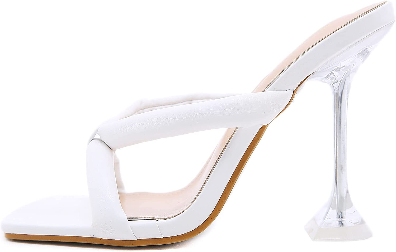 Womens Sexy Heeled Slides Sandals Stiletto High Heels Flip Flops Mules Open Toe Slippers Slingback Summer Party Shoes