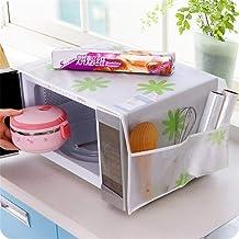 Gouen Kitchen Tool Home Impermeable Polvo de Aceite Bolsillos Dobles Cubierta de Horno de microondas Home Kitchen Tool, A