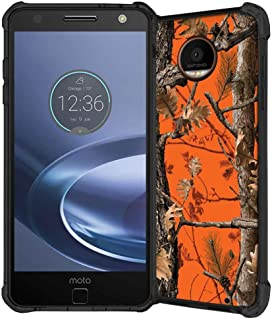 Moto Z Force Case, ABLOOMBOX Hunting Camo Fabric Camouflage Pattern Shock Absorption Soft Bumper Slim Rubber Protective Case Cover for Motorola Moto Z Force Droid Edition