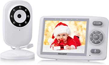 Baby Monitor with Digital Camera, TOGUARD 3.5 Inch 2.4GHz Wireless Video Baby Monitor 1000ft Range Transmission Night Vision 2-Way Talk VOX Wake-up Temperature Sensor Lullabies High Capacity Battery