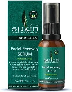Sukin Super Greens Facial Recovery Serum 1 01 fl oz 30 ml