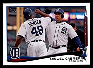 2014 Topps Update # 300 Checklist 5 - Baseball Highlights - 2,000 Hits Miguel Cabrera Detroit Tigers (Baseball Card) Dean's Cards 8 - NM/MT Tigers
