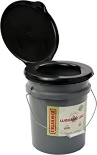 Reliance Products Luggable Loo Portable 5 Gallon Toilet Gray, 13.5 inch x 13.0 inch x 15.3 inch
