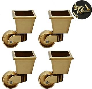 - Lat/ón macizo genuino Ajuste estilo taza Efecto vintage antiguo Ruedas de lat/ón macizo con rueda de 28 mm juego de 4 Empresa del Reino Unido