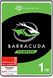 SeagateBarracuda, interne Festplatte 1 TB HDD, 2,5 Zoll, 5400 U/Min, 128 MB Cache, SATA 6 GB/s, silber, FFP, Modellnr.: ST1000LMZ48, (Verpackung kann variieren)