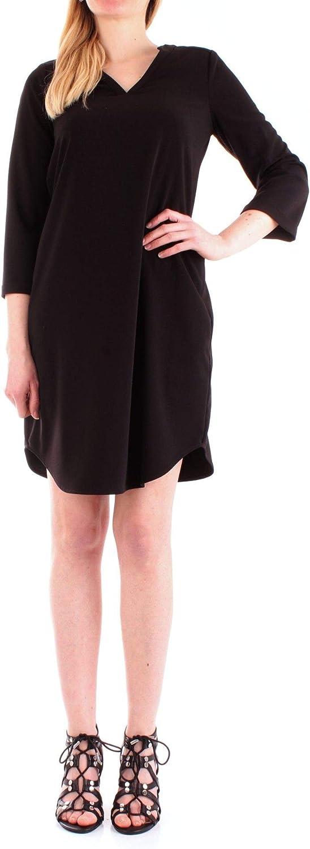Silvian Heach Women's PGP19356VEblack Black Cotton Dress