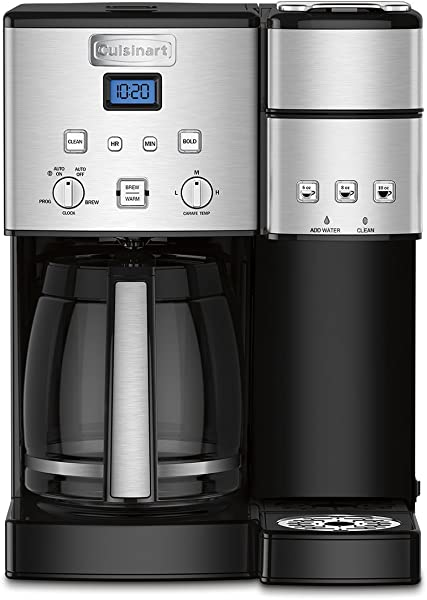 Cuisinart SS 15 Maker Coffee Center 12 Cup Coffeemaker And Single Serve Brewer Silver