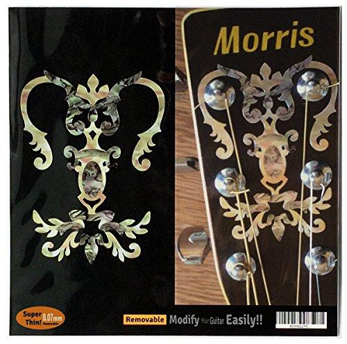 Inlay-Aufkleber, Motiv: Gitarren-Kopfplatte mit Abalone-Motiv – Kronleuchter Taschenlampe
