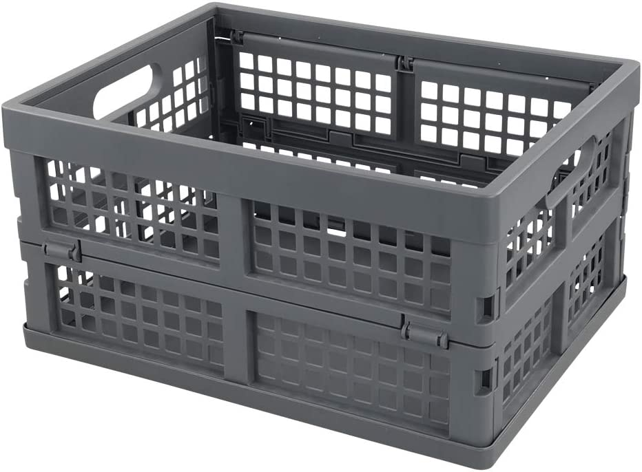 Ramddy 16 Factory outlet Quart Collapsible Crate Storage SALENEW very popular Plastic Bins Basket