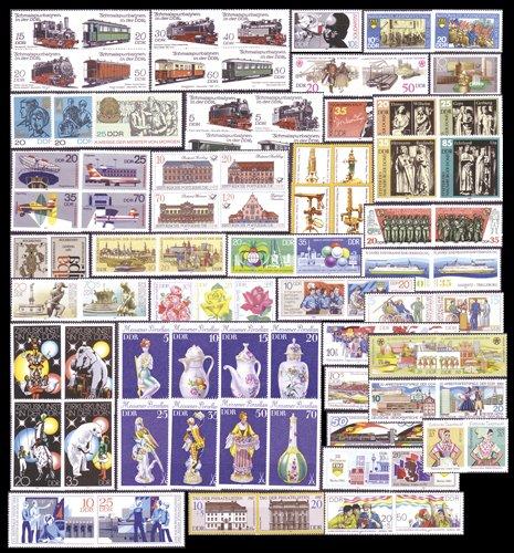 Goldhahn DDR 91 Werte postfrisch aus Zusammendrucken Briefmarken für Sammler