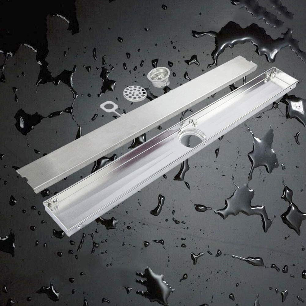 Max 42% OFF Rectangular New product!! Linear Shower Drain Show Floor Stainless Steel