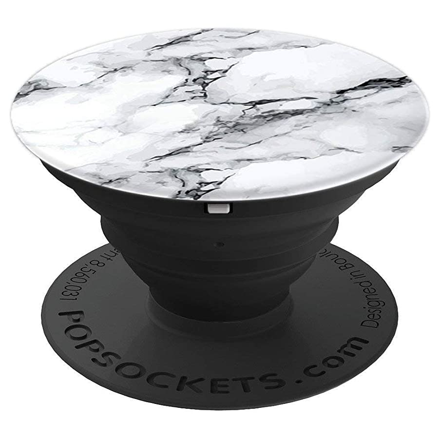 Pop Socket Marble Design White And Black - PopSockets Grip and Stand for Phones and Tablets