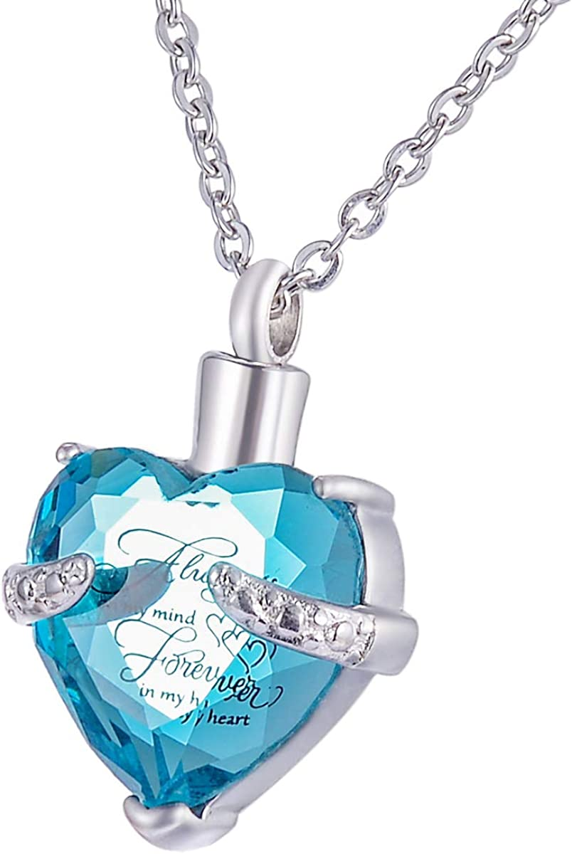 Excellence HooAMI Heart Cremation Urn Necklace Max 51% OFF for Memori Jewelry Ashes