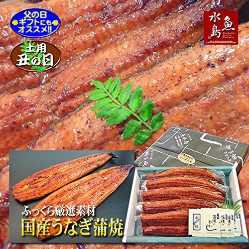 父の日ギフト 土用丑の日 魚水島 国産 鰻うなぎ蒲焼き ふっくら厳選素材 約30cm特々大 約200g×5尾 メガ盛り1kg 品質保証シール付