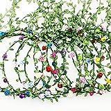 Kaimeilai 10 coronas de flores para el pelo, coronas para el pelo, coronas para el pelo, diademas, diademas, diadema bohemia, guirnalda floral para niñas, novias, bodas, festivales, fiestas