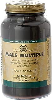 Solgar Male Múltiple. Multinutriente para el Hombre. Con Vitaminas. Minerales y Licopeno. Apto para Veganos. 120 Comprimidos