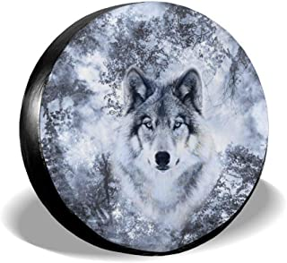 550mm THREE WOLVES SPARE WHEEL COVER STICKER 4X4 LAND ROVER