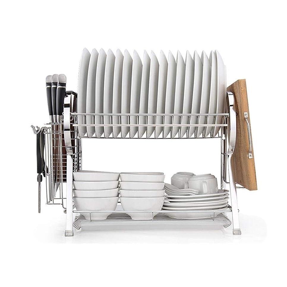 湾頼るノミネートJBFZDS ステンレス鋼の食器棚、キッチンストレージは食器ドレンラック、ホーム多機能大容量キッチン用品棚ラック