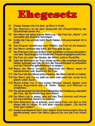 Schild Alu Ehegesetz 200x150mm