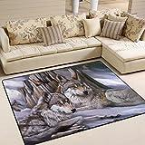 #Teppich #Wolf #Paar #Wohnzimmer #Schlafzimmer 63x48 Inch (ca. 160x122 cm) oder 80x58 Inch (ca. 203x147 cm)