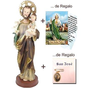 Paben - Estatua de San José durmiendo, artículo religioso 12,8 cm ...