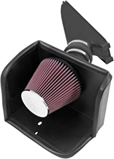 K&N Cold Air Intake Kit with Washable Air Filter: 2005-2014 Toyota Tacoma, 4.0L V6, Black HDPE Tube with Red Oiled Filter, 57-9025