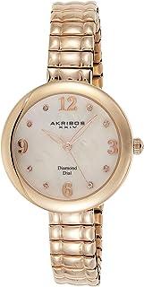 Akribos XXIV Women's Dial Stainless Steel Band Watch - AK765RG