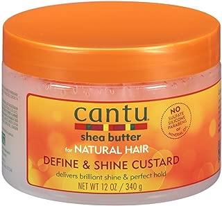 Cantu Natural Hair Define & Shine Custard 12 Ounce Jar (354ml) (3 Pack)