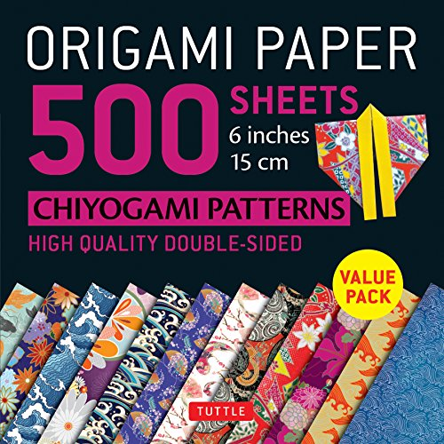 Tuttle Publishing: Origami Paper 500 sheets Chiyogami Design: High-Quality Origami Sheets Printed with 12 Different Designs (Origami Paper Pack)