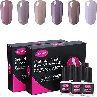 CLAVUZ Gel Nail Polish Set Soak Off UV Led Nail Varnish 6pcs New Start Kit Nail Lacquers Nail Art Manicure Pedicure