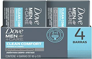 DOVE MEN+CARE Jabón en Barra Clean Comfort, 90 g