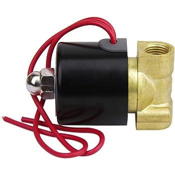"""LEORX CA 220V 1/4"""" válvula de solenoide eléctrica para aire agua"""