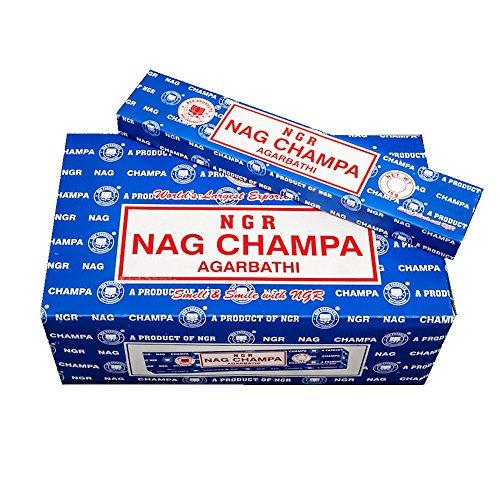 Pamai Pai® 180g Nag Champa Räucherstäbchen - Grundpreis: 6,38€/100g - Blau Agarbathi 12 x 15g Räucherwerk Duft