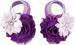 Voberry Baby-Girl's Infant Barefoots Sandals Flower Bow Foot Flower
