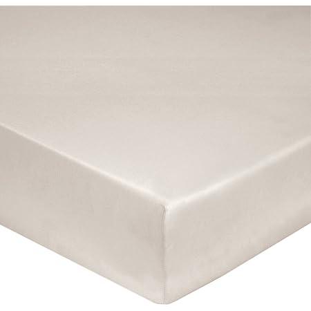 Blanc des Vosges Uni Percale Drap housse Coton Lin 160 x 200 cm bonnet 40 cm
