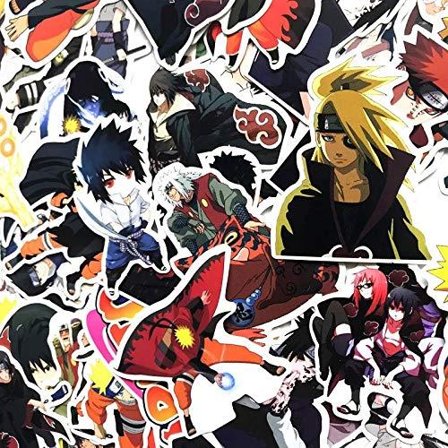 TUDUDU 63 Stück Klassische Naruto Zeichentrickfiguren Graffiti Aufkleber Koffer Kühlschrank Kühlschrank Skateboard Fahrrad Skate Glas Wandoberfläche