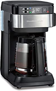 Hamilton Beach Works with Alexa Smart Coffee Maker, Programmable, 12 Cup Capacity, Black and...