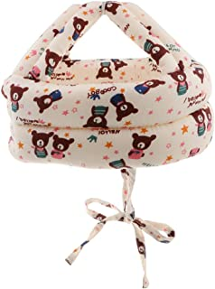 Dolity Toddler Adjustable Safety Helmet Headguard Protective Harnesses Hat Safety Caps for Walking & Crawling - Bear Pattern