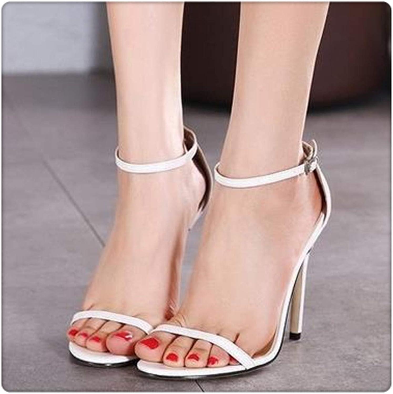 Yyixianma Roma Women's Sandals shoes Thin Heel 11cm High Heels Sexy Open Toe Sandals