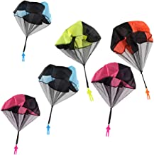 STUDYY 6 Pcs Parachute Toys Tangle Free Throwing Hand Throw Soldiers Parachute Toss It Up and Watch Landing Outdoor Kid's Flying Toys