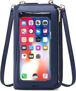 Sac de téléphone à écran Tactile pour Femmes, Petit Portefeuille à bandoulière Porte-Cartes de Blocage RFID Sac à Main Min...