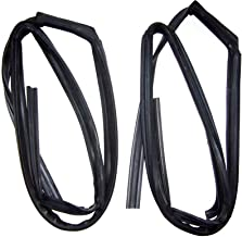 Motorstorex Weatherstrip Glass Run Channel Front Door Left & Right for Nissan Datsun B13 Sentra Coupe 2 Door