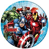 Mighty Avengers 87962 Plates, Blue, One-size