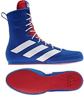 Box Hog 3 Blue Silver Red Boxing Fight Match Boots