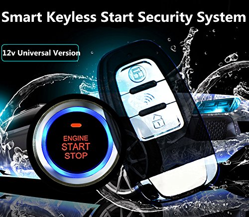 Ocamo 12V Universal 8Pcs Car Alarm Start Security System PKE Induction Anti-theft Car Alarm Keyless Entry Push Button Remote Kit