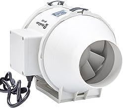 Hon&Guan 100 mm buisventilator mengstroom buisventilator met sterke afvoerluchtsysteem 115CFM voor kantoor, badkamer, hal,...