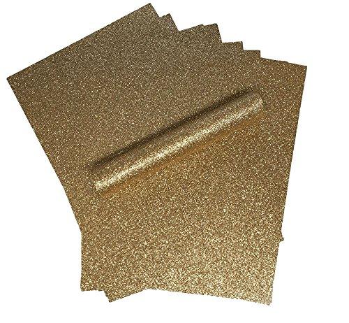 Glitzer-Papier, A4, rotgoldfarben, glitzernd, weich, nicht fusselnd, dick, 150 g/m², 10 Blatt