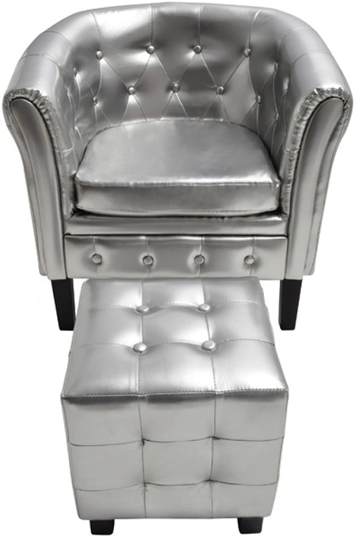 VidaXL Edle Chesterfield Edler Sessel Lounge Couch Wohnzimmer Sitzhocker Sofa