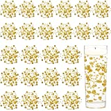 Tondiamo 24 Pieces Artificial Pearl String for Floating Candle Faux Pearls Beads String Pearl Party Garland Decoration for Vases Filler Wedding Centerpiece Party Decor (Gold,1 m/ 39.37 Inch)